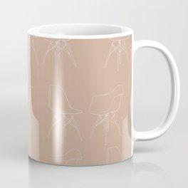 Mid-Century Modern Pink Eames Pattern Coffee Mug