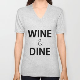 Wine & Dine Unisex V-Neck
