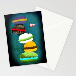 Macarons in my dreams Stationery Cards