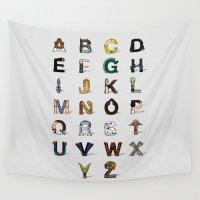 alphabet Wall Tapestries featuring Star W. alphabet by Fabian Gonzalez