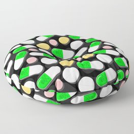 Deadly Pills Pattern Floor Pillow