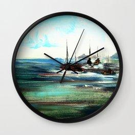 on the ocean Wall Clock