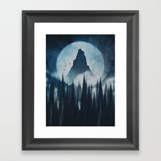 Find your mountain Framed Art Print