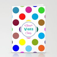 good vibes only Stationery Cards featuring Good Vibes Only by Miss L in Art