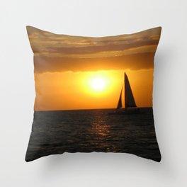 A Night's Sail Throw Pillow