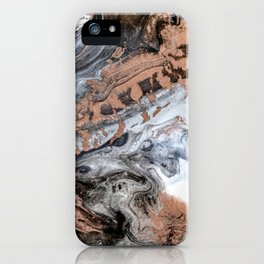 Rose Gold Marble II iPhone Case