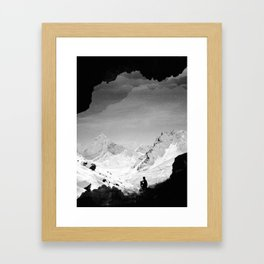 Snowy Isolation Framed Art Print