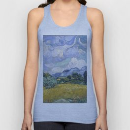Vincent van Gogh - Wheat Field with Cypresses Unisex Tank Top