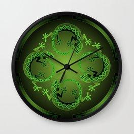 Vintage Green Gecko Wall Clock