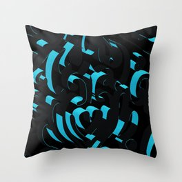 3D Abstract Ornamental Background Throw Pillow