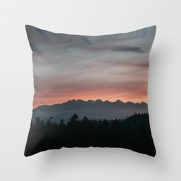 Mountainscape - Landscape and Nature Photography Throw Pillow
