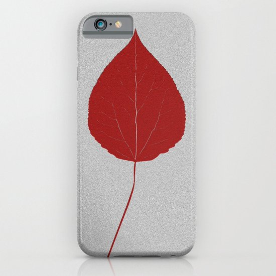 Leafs rouge iPhone & iPod Case