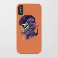 xenomorph iPhone & iPod Cases featuring Cute Xenomorph by nocturnallygeekyme