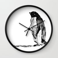 penguin Wall Clocks featuring Penguin by bknyn