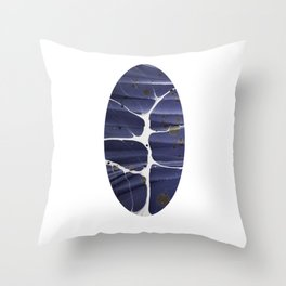Abstract Marbled Oval Flash Throw Pillow