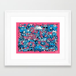 Charm Defensive Framed Art Print