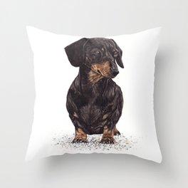 Dog-Dachshund Throw Pillow