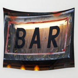 Bar Sign Wall Tapestry