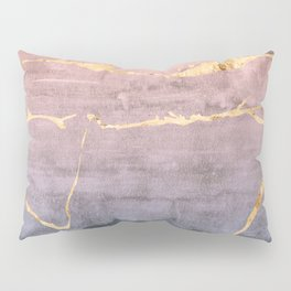 Watercolor Gradient Gold Foil Pillow Sham