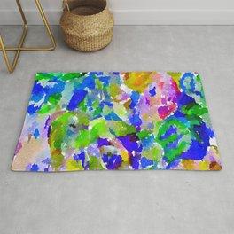 Watercolor Splatter Rug