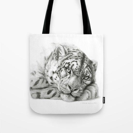 Pensive Snow Leopard G2011-011 Tote Bag