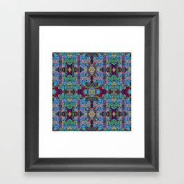 Overshot Pattern Framed Art Print