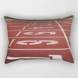 Olympics Tartan Running Track Rectangular Pillow