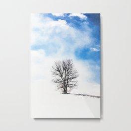 Minimalist winter painting #3 Metal Print