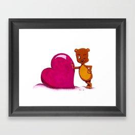 Teddy Valentine #2 Framed Art Print
