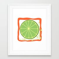 coasters Framed Art Prints featuring LIME by Tanya Pligina