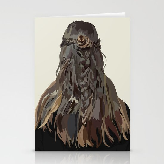 Let Down Your Hair Stationery Cards