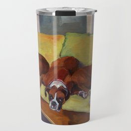 Boxer Dog Siesta Travel Mug
