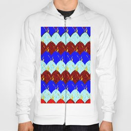 Red White and Blue Scales Hoody