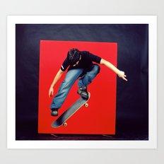 Skater in the Studio Art Print