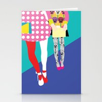 chic Stationery Cards featuring chic by BuBu illustration