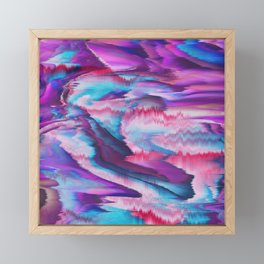 Abstract modern violet pink teal watercolor Framed Mini Art Print