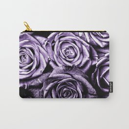 Vintage Purple Roses Carry-All Pouch