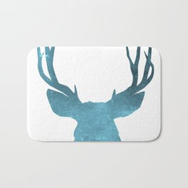 Deer head and stag simple illustration Bath Mat