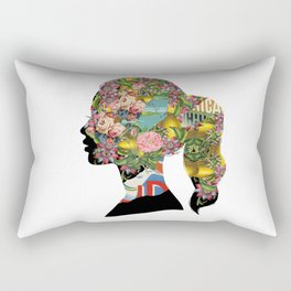 Flowery Girl Rectangular Pillow