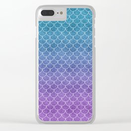 Mermaid Scales in Cotton Candy Clear iPhone Case