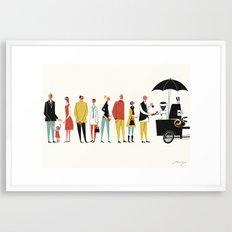 Coffee Bike, Copenhagen Framed Art Print