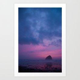 turbulent sunset Art Print