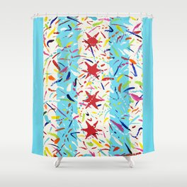 Sweet Home Chicago Flag - hometown pride Shower Curtain