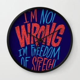 Freedom of Speech Wall Clock