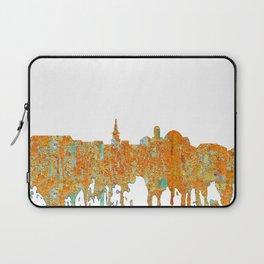 Alexandria, Virginia Skyline - Rust Laptop Sleeve