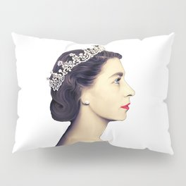 QUEEN ELIZABETH II - THE YOUNG QUEEN IN PROFILE Pillow Sham