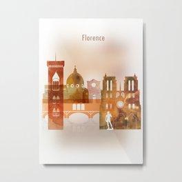 Florence skyline Metal Print