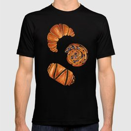 French pastries - croissant, chocolate, rasin T-shirt