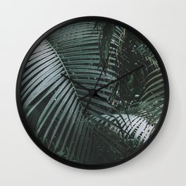 Palm garden background Wall Clock