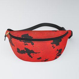 Red Modern Contemporary Abstract Textured Design Fanny Pack
